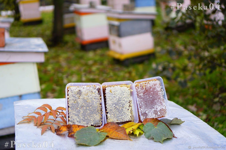 Цветочный Мёд в сотах / Рамка мёда / Контейнера 0.65 л. - 6 шт, Мед, Горно-Алтайск,  Фото №1