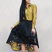 """Одежда handmade. Livemaster - original item Нарядный женский костюм с вышивкой """"Черный с золотом - ришелье"""". Handmade."""