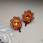 Украшения handmade. Livemaster - original item Soutache earrings