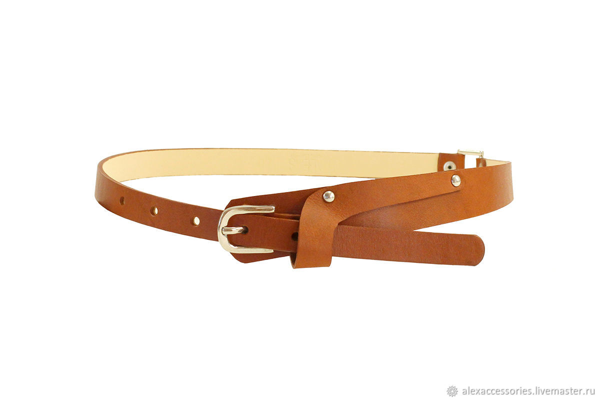 Brown waist leather belt, Straps, Moscow,  Фото №1