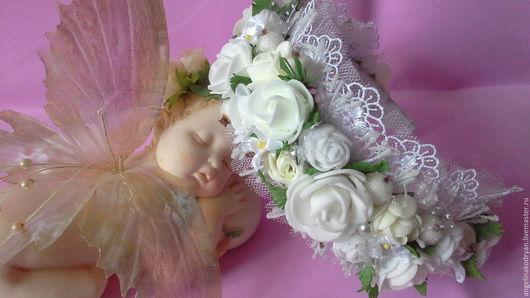 Свадебные украшения ручной работы. Ярмарка Мастеров - ручная работа. Купить Ободок с розами из фоамирана для свадьбы, выпускного или торжества. Handmade.