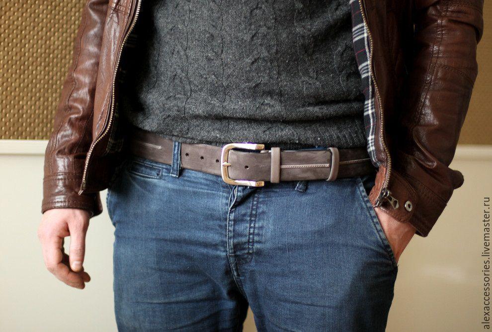 Ремень мужской кожаный под джинсы широкий кожаные ремень резинка