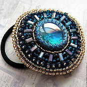 Украшения handmade. Livemaster - original item Elastic hair band beads embroidery. Handmade.