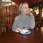 Одежда ручной работы. Ярмарка Мастеров - ручная работа Свитер с открытыми плечами. Handmade.