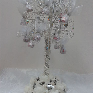 Цветы и флористика ручной работы. Ярмарка Мастеров - ручная работа Зимнее дерево. Handmade.