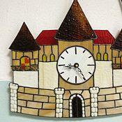 """Для дома и интерьера ручной работы. Ярмарка Мастеров - ручная работа Часы """"Замок"""" тиффани  фьюзинг. Handmade."""