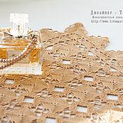 Для дома и интерьера ручной работы. Ярмарка Мастеров - ручная работа Салфетка ВИНТАЖНЫЙ БЕЖ из квадратов. Handmade.