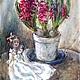 Символизм ручной работы. Ярмарка Мастеров - ручная работа. Купить Куколка в атласном белом платьице.. Handmade. Фуксия, пурпурный цвет