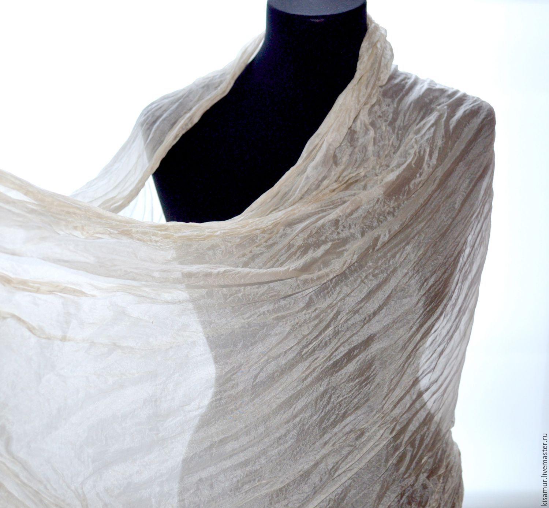 buy light begie silk scarf handpainted silk scarf