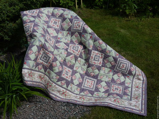 """Текстиль, ковры ручной работы. Ярмарка Мастеров - ручная работа. Купить одеяло лоскутное """"Розовые мечты"""". Handmade. Комбинированный, шитье"""
