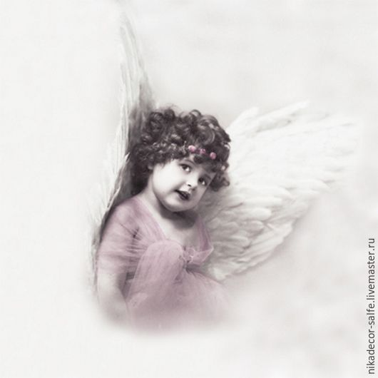 Декупаж и роспись ручной работы. Ярмарка Мастеров - ручная работа. Купить Милый ангелочек (2056) 33х33 салфетка для декупажа. Handmade.
