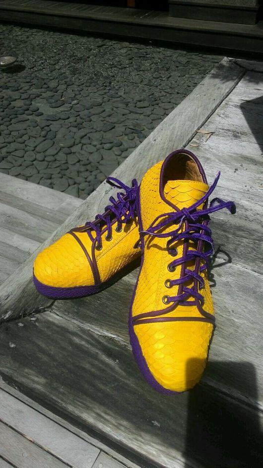 Обувь ручной работы. Ярмарка Мастеров - ручная работа. Купить Кеды из питона. Handmade. Кеды из питона, кеды, слипоны из питона