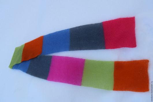 Шарфы и шарфики ручной работы. Ярмарка Мастеров - ручная работа. Купить Шарф вязаный. Handmade. Комбинированный, воздушный шарф