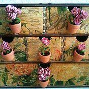 """Для дома и интерьера ручной работы. Ярмарка Мастеров - ручная работа Мини-комод """"Розарий"""" на 6 ящичков. Handmade."""