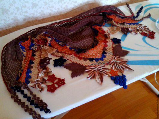 Шали, палантины ручной работы. Ярмарка Мастеров - ручная работа. Купить платок, бактус. Handmade. Платок, ирландское кружево