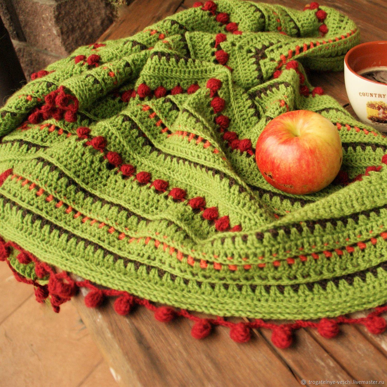 Теплая шаль в стиле бохо Рябинка – заказать на Ярмарке Мастеров – JY274RU | Шали, Смоленск