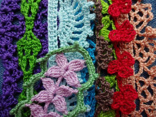 Текстиль, ковры ручной работы. Ярмарка Мастеров - ручная работа. Купить Кружево мерное крючком, кайма, тесьма. Handmade. Комбинированный