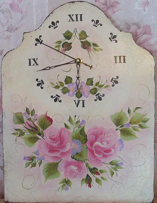 """Часы для дома ручной работы. Ярмарка Мастеров - ручная работа. Купить Часы настенные в стиле """"Шебби шик""""  """" Нежность """". Handmade."""