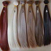 Материалы для творчества ручной работы. Ярмарка Мастеров - ручная работа Волосы прямые 30см 17 цветов. Handmade.