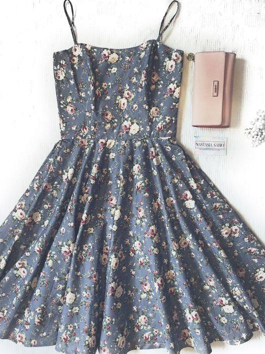 """Платья ручной работы. Ярмарка Мастеров - ручная работа. Купить Платье """"Виалетта"""". Handmade. Цветочный, цветочное платье, Платье в цветочек"""
