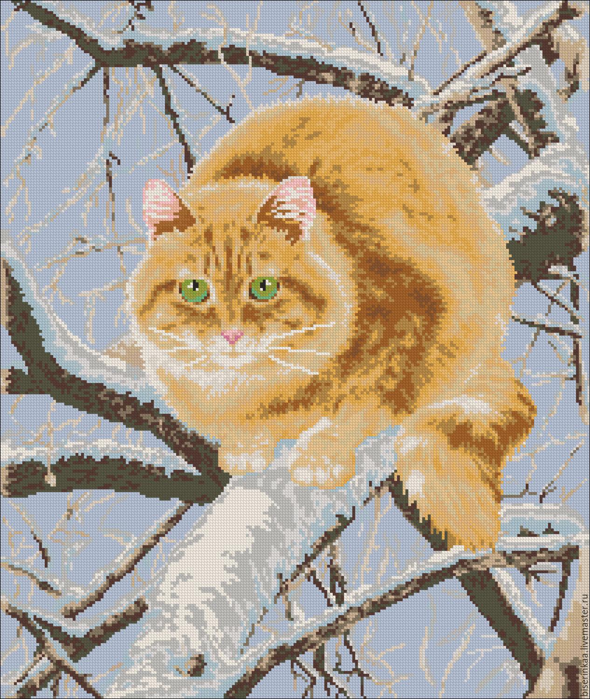 Вышивка бисером котенок схема