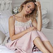 Одежда handmade. Livemaster - original item Linen nightgown
