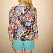 Одежда ручной работы. Ярмарка Мастеров - ручная работа Блуза-рубашка с рукавом 3/4. Handmade.