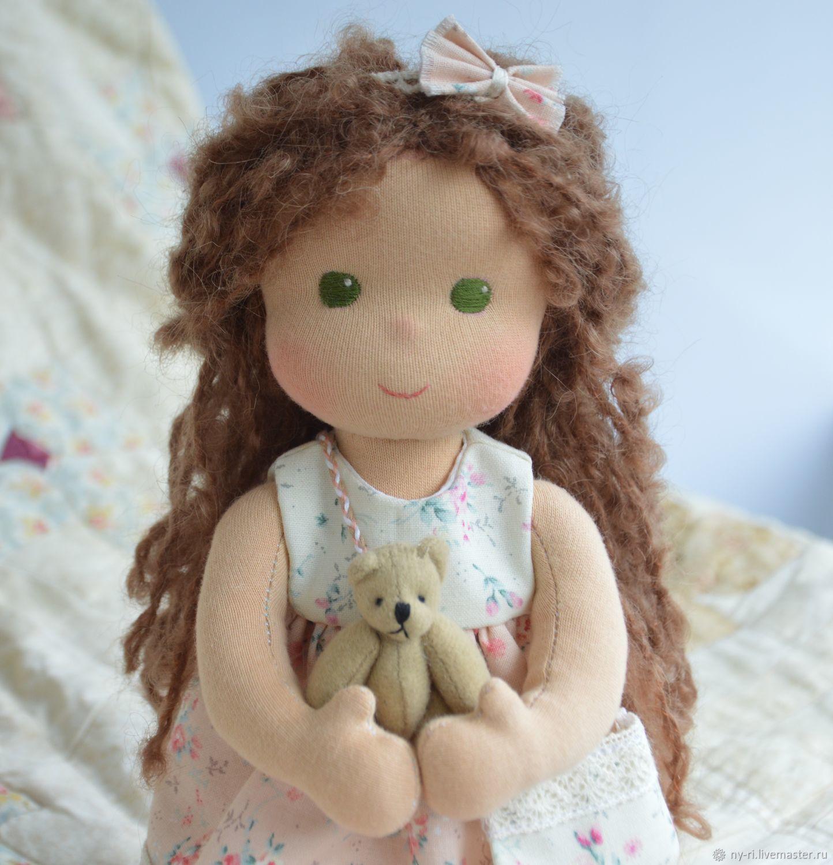 Вальдорфская кукла Зеленоглазка, Вальдорфские куклы и звери, Таруса,  Фото №1