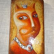 """Картины и панно ручной работы. Ярмарка Мастеров - ручная работа Панно на дереве  """"Её величество Жаннет"""". Handmade."""