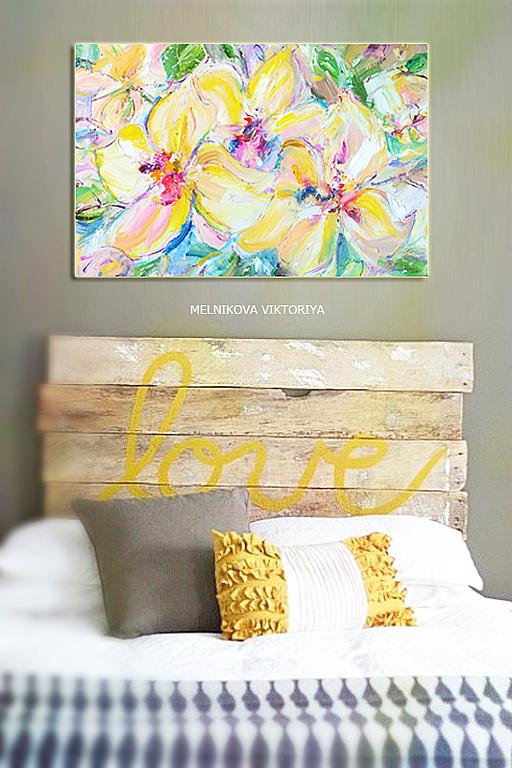 """Картины цветов ручной работы. Ярмарка Мастеров - ручная работа. Купить """"Золотые узы орхидеи"""" авторская коапия вариация  картина маслом. Handmade."""