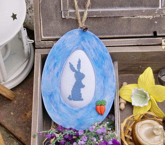 Подарки на Пасху ручной работы. Ярмарка Мастеров - ручная работа. Купить Яйцо пасхальное с зайцем. Handmade. Пасха, Пасхальный кролик