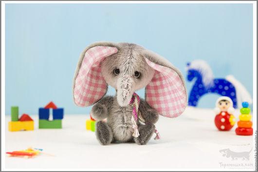 Мишки Тедди ручной работы. Ярмарка Мастеров - ручная работа. Купить Слоник Грейсон. Handmade. Серый, красивый, слоненок, маленький