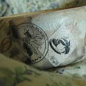 """Украшения ручной работы. Ярмарка Мастеров - ручная работа Браслет """"Кофейный"""" - декупаж по дереву. Handmade."""