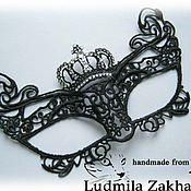 Одежда ручной работы. Ярмарка Мастеров - ручная работа Кружевная маска Корона. Handmade.