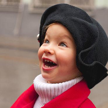 Аксессуары ручной работы. Ярмарка Мастеров - ручная работа Шляпы: шляпа детская черная. Handmade.