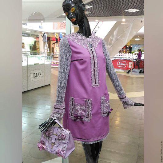 """Платья ручной работы. Ярмарка Мастеров - ручная работа. Купить Платье """"Белла"""". Handmade. Сиреневый, платье авторское, премиум класс"""
