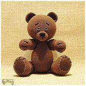 Куклы и игрушки handmade. Livemaster - original item Knitted toys: Mischievous Mishan - soft toy. Handmade.