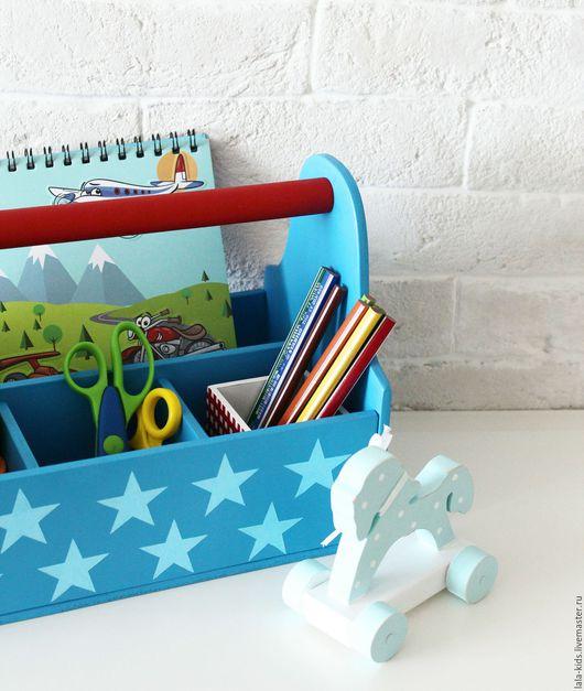 Детская ручной работы. Ярмарка Мастеров - ручная работа. Купить Ящик с ручкой синий. Handmade. Синий, хранение игрушек