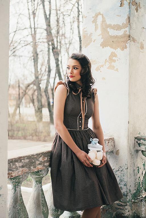 """Платья ручной работы. Ярмарка Мастеров - ручная работа. Купить Платье """"Шоколадная"""". Handmade. Коричневый"""
