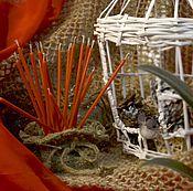 Сувениры и подарки ручной работы. Ярмарка Мастеров - ручная работа Свеча восковая № 80 оранжевая. Handmade.