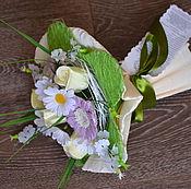 Косметика ручной работы. Ярмарка Мастеров - ручная работа Букет 4 розы и 3 герберы в каркасе в др.расцветках. Handmade.