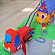 """Развивающие игрушки ручной работы. Ярмарка Мастеров - ручная работа. Купить Детский игровой коврик """"Тили-бом"""". Handmade. зоопарк"""