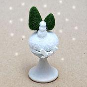Подарки к праздникам ручной работы. Ярмарка Мастеров - ручная работа Зима (миниатюра из шерсти). Handmade.