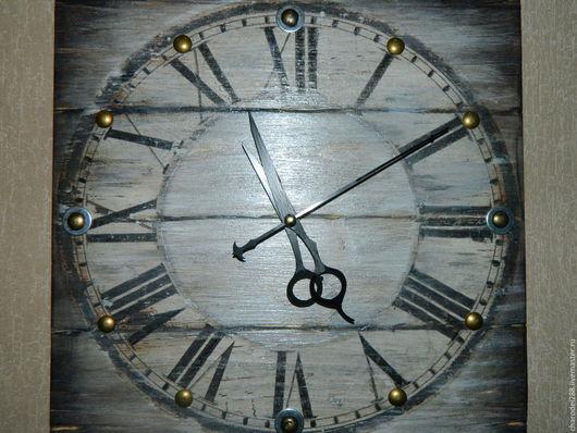 Часы для дома ручной работы. Ярмарка Мастеров - ручная работа. Купить Часы в стиле ЛОФТ. Handmade. Серебряный, лофт