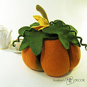 Посуда handmade. Livemaster - original item The pumpkin warmer on the kettle - accessory for the kitchen. Handmade.