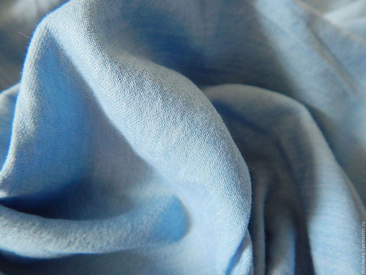 Шитье ручной работы. Ярмарка Мастеров - ручная работа. Купить хлопок мягкий сорочечный джинсовый(тонкая фланель). Handmade. Голубой