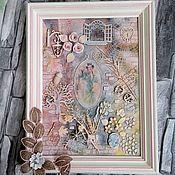 """Картины ручной работы. Ярмарка Мастеров - ручная работа Панно """"Сны Софи"""". Handmade."""