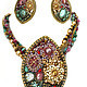 Jewelry Sets handmade. Kit-transformer ' Dusty rose and turquoise'. Simkha - Jewelry For Joy. My Livemaster.