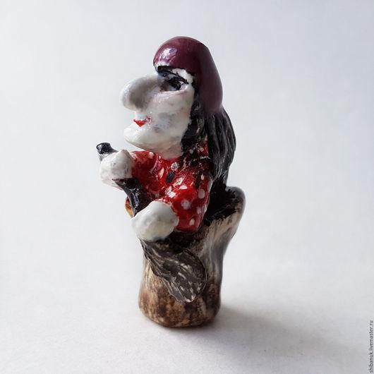 """Миниатюра ручной работы. Ярмарка Мастеров - ручная работа. Купить Фарфоровая миниатюра """"Баба Яга"""". Handmade. Фарфоровая миниатюра, на счастье"""