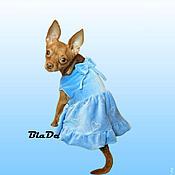 """Для домашних животных, ручной работы. Ярмарка Мастеров - ручная работа Платье """"Сердечки """". Handmade."""